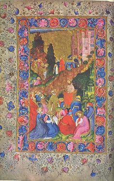 Katherine Swynford may be the lady in blue kneeling at the front of this manuscript illustration of Chaucer.