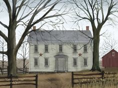 early America | Early American Home by Jacobs, Billy - Village Farmhouse
