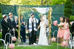 Appropriate to share today because the holiday of Sukkah starts later this week.  This couple used a sukkah frame to build their chuppah.  Very Creative. http://www.themodernjewishwedding.com/?p=20769
