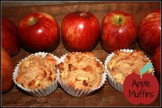 Clean Eating Apple Muffins. Made with whole-wheat and honey.  Moist and perfect for a hot delcious breakfast or on the go.  Real Food