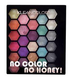 KleanColor No Color No Honey! Vibrant 28 Shimmer Color Eyeshadow Palette Kit