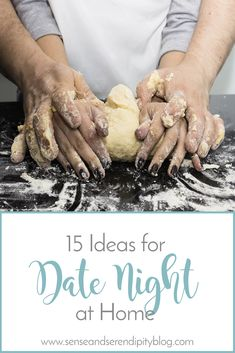 Date night at home can be just what you need to put your marriage back on your priority list without breaking the bank. Here are 15 date night ideas!