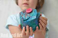 From Plastic Bottle to Pretty Gift Box that Kids can make!
