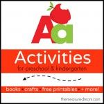 Letter A Activities the measured mom 150x150 How to teach the alphabet to preschoolers idea, abc, measur mom, alphabet, activ, teach, letters, preschool, kid