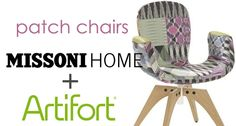 New Missoni-Artifort Collaboration http://www.unicahome.com/p70473/artifort/patch-one-and-two-chairs-by-jacco-bregonje-for-artifort.html
