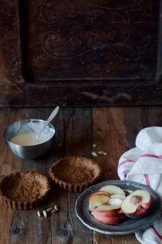 Almond Tarts with Peach and Cardamom Yogurt // Fork Spoon Knife