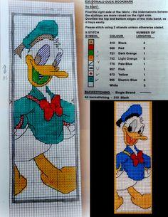 cross stitch bookmarks, donald duck, pattern, crossstitch, plastic canvas bookmarks, cross stitches, plastic canvas cross bookmark, design stitch
