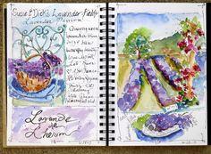 Nancy Standlee Fine Art sketchbook for a virtual France trip