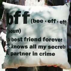 This pillow says it all