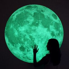 Glow in the dark moon wall decal
