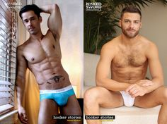 gay porn stars Rafael Alencar and Tommy Defendi show off their big bulges