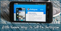 Little Known Ways To Sell On Instagram
