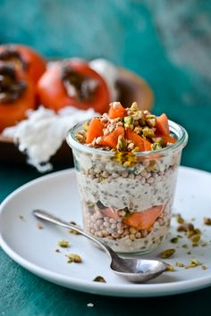 BLISS - blissful eats with tina jeffers: Spiced persimmon overnightoats
