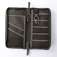Muji passport case - can be converted into an interchangeable knitting needle set case