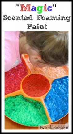 """""""Magic"""" Scented Foaming Paint- only two ingredients! @ Twodaloo"""