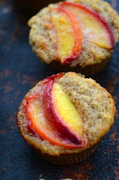 peach oatmeal muffins.  Super easy and delicious!