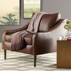 Lindrum Leather Armchair