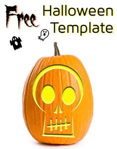 Skull stencil for Halloween #pumpkins #carving #diy