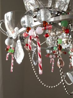 One of the Coco candycane chandeliers instore