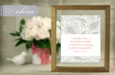 Framed MOTHER'S DAY quote