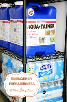 Emergency Preparedness - Water storage and purification