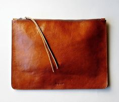 Cognac leather pouch. So beautiful.