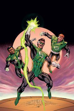 Green Lanterns, John Stewart, Guy Gardner & Hal Jordan