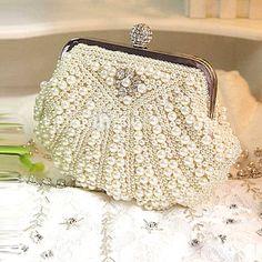 Pearl Clutch / Wedding or Evening Purse