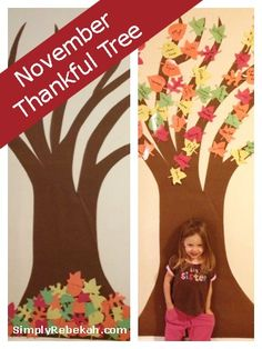 November Thankful Tree: A simple and frugal Thanksgiving tradition that celebrates being thankful each day in November.