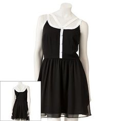 LC Lauren Conrad Colorblock Chiffon Dress