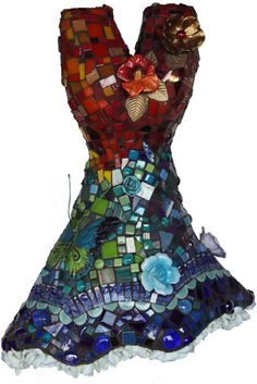 SACRED GARDEN a mosaic dress by mosaicsbysusan on Etsy, $1860.00