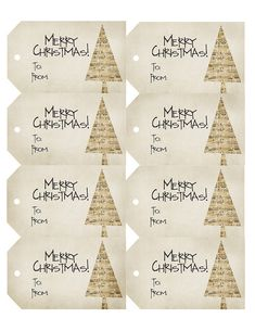 Free printable - vintage style music sheet Christmas gift tags!