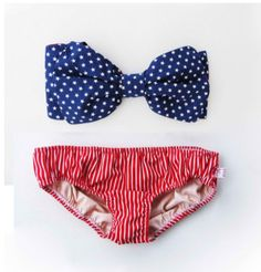 American Flag Bathing Suit.