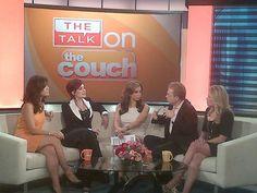 Julie Chen & Sharon Osbourne on WLNY couch w/ CBS New York John Elliott dishing on The Talk's make up free premiere 9/10!