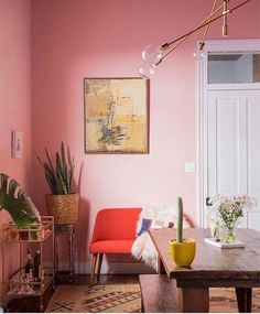 a pink room