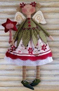 SVESZTER: Tünemény ... cute little angel christmas doll with pattern ... translate website with google translate: http://translate.google.com/ printabl pattern, idea, christmas dolls, free angel, patterns, crafti, angel pattern, fabric angels, angel doll
