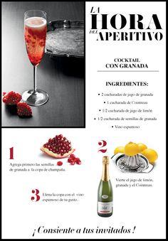 Cambia la rutina y sorprende a tu pareja con este cocktail de granada. #Wine #Cocktail #Gourmet #LifeStyle #Liverpool