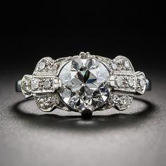 1.56 Carat GIA - G VS2 Diamond Art Deco Engagement Ring - 10-1-6456 - Lang Antiques
