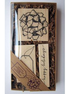 gift wrapping stamp set... I neeeed this!