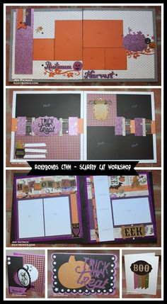 Roxybonds Close To My Heart: SCAREDY CAT HALLOWEEN WORKSHOP NOW AVAILABLE!!! Create THREE 2-page layouts PLUS THREE cards with this fabulous Scaredy Cat Workshop!