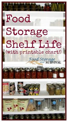 Food Storage Shelf Life (plus printable chart!) - Food Storage and Survival