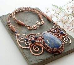 Viking knit, copper wire