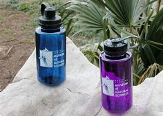 museum store, whale logo, logo nalgen, water bottles