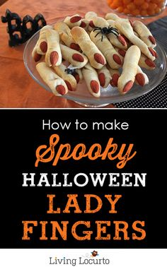 An easy to make lady finger recipe that not only tastes delicious, but looks perfectly creepy on a party table!