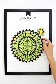 Month clock - made out of paper