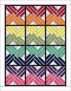 Fractured Paint Box, Quiltworx.com, Chevron Rainbows!