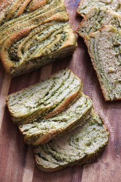 braided pesto bread.