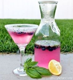 Blueberry Basil Martini Recipe - this sounds like my kind of martini!