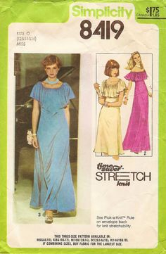 Vintage Sewing Pattern  1978 Misses Pullover Dress by thehalfhouse, $6.00