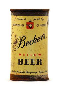beer collect, becker mellow, beer can, thing beer, mellow beer, cerveja, classic beer, beer label, typographi